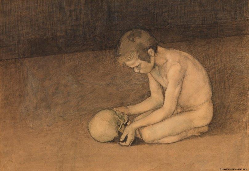 Magnus Enckell, Boy With Skull, 1893. Ateneum Art Museum. Photo: Finnish National Gallery / Yehia Eweis.