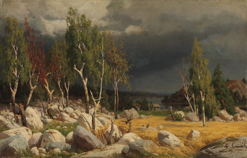 Fanny Churberg, Burnt Clearing, Landscape from Uusimaa, 1872, oil on canvas, 54cm x 85,5cm, Ahlström Collection, Ateneum Art Museum, Finnish National Gallery. Photo: Finnish National Gallery / Yehia Eweis
