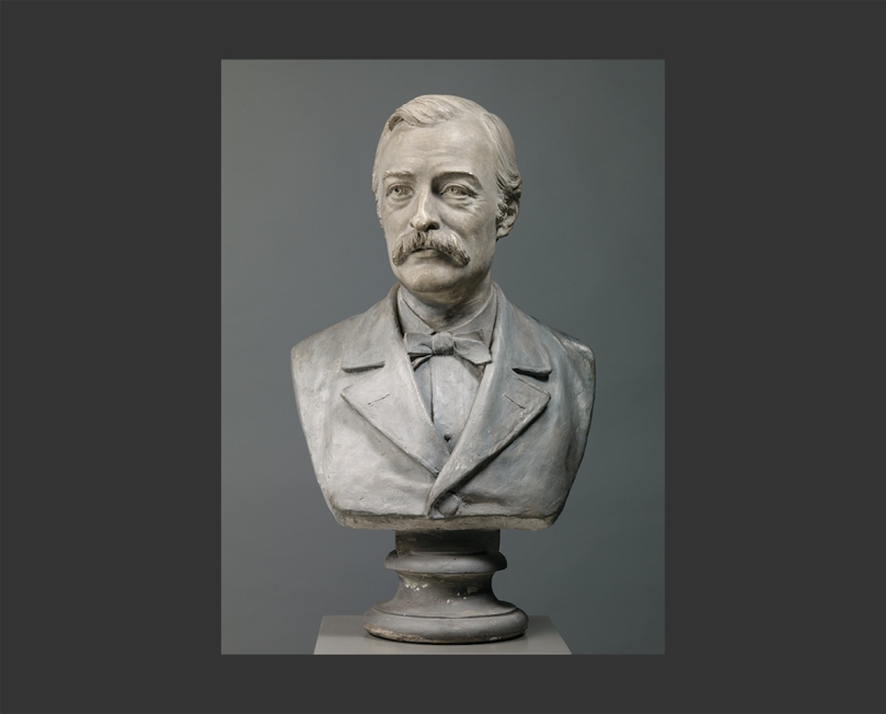 Johannes Takanen, Carl Gustaf Estlander, 1883, plaster cast, height 66cm. Finnish National Gallery / Ateneum Art Museum. Photo: Finnish National Gallery / Hannu Aaltonen