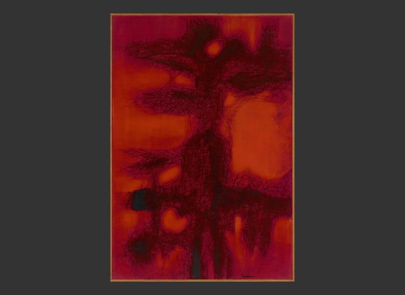 Jaakko Somersalo, Red, 1961, oil on canvas, 152 cm x 103 cm, Ateneum Art Museum. Photo: Finnish National Gallery / Hannu Pakarinen.