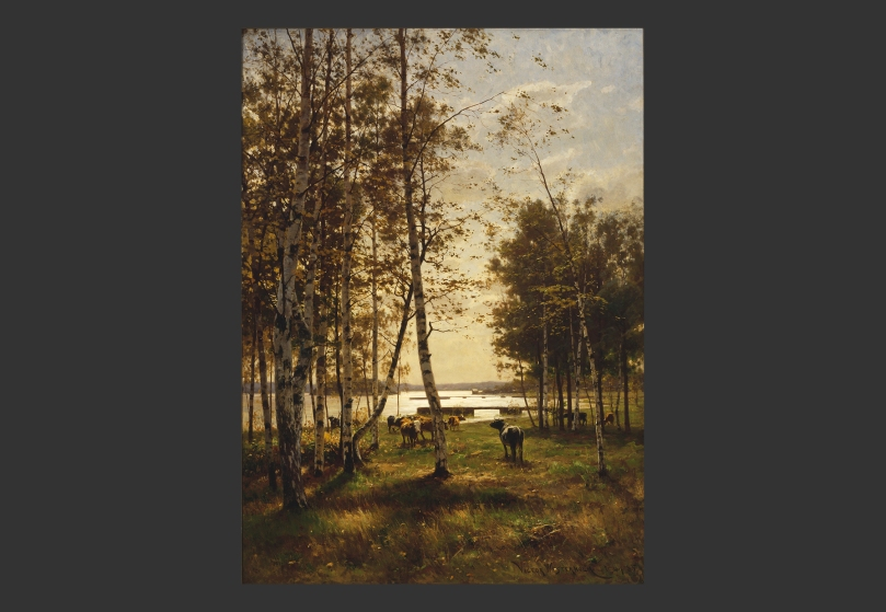 Victor Westerholm, An October Day in Åland, 1885, oil on canvas, 204 cm x 148 cm, Ateneum Art Museum. Photo: Finnish National Gallery / Jukka Romu.