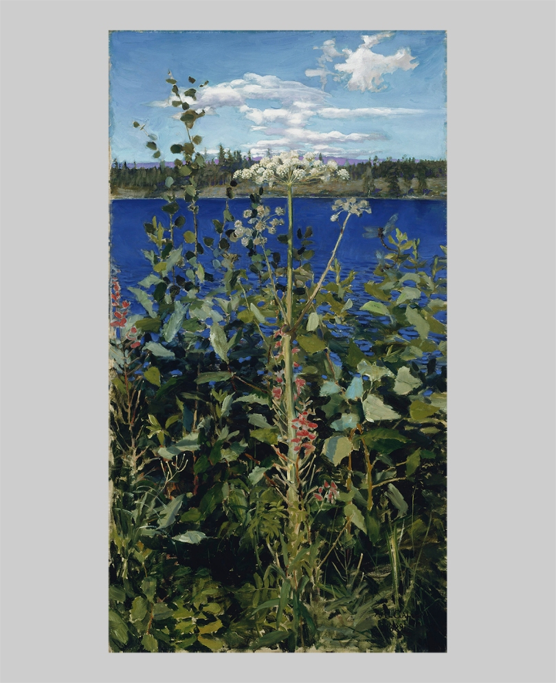 Akseli Gallen-Kallela, Wild Angelica, 1889, oil on canvas, 103 cm x 56 cm, August and Lydia Keirkner Fine Arts Collection, Ateneum Art Museum. Photo: Finnish National Gallery / Hannu Aaltonen