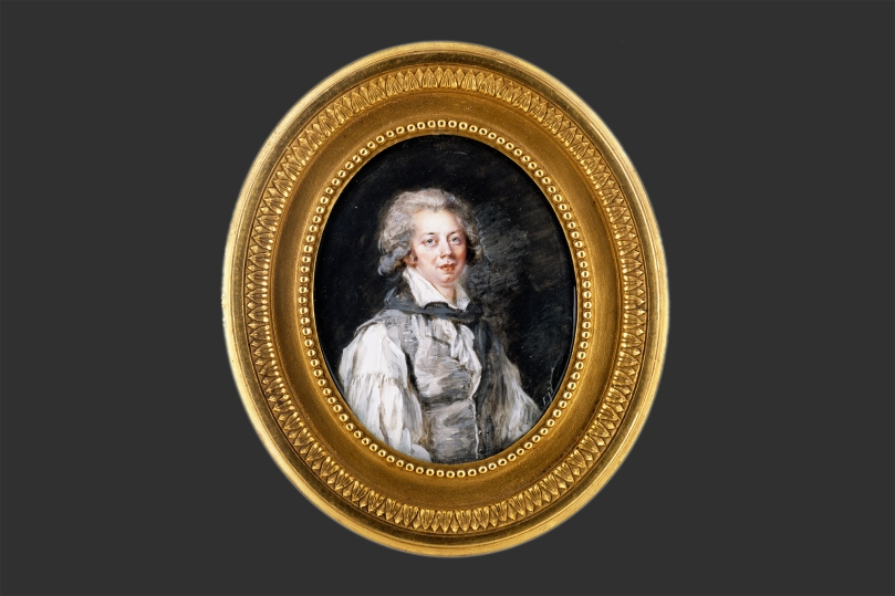 Peter Adolf Hall, Treasurer Johan Gottlob Brusell (1756–1829), watercolour and gouache on ivory, 8.3cm x 6.6cm, marked: Hall 1783/5. Paul and Fanny Sinebrychoff Collection, Sinebrychoff Art Museum, Finnish National Gallery Photo: Finnish National Gallery / Hannu Aaltonen