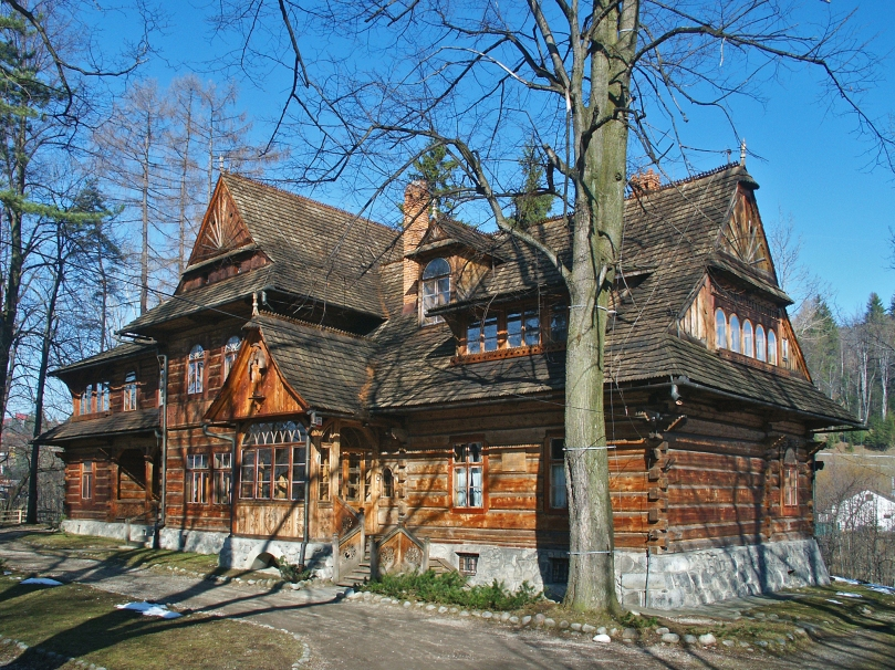 Koliba Villa (Willa Koliba), designed by Stanisław Witkiewicz in 1892–93, is now the Museum of the Zakopane Style, a branch of the Tatra Museum in Zakopane Photo: Tatra Museum Archive