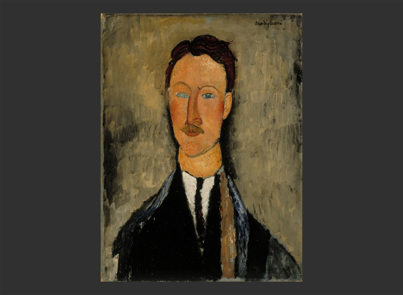 Amedeo Modigliani, Portrait of the Artist Léopold Survage, 1918, oil on canvas, 61,5cm x 46cm, Finnish National Gallery, Ateneum Art Museum. Photo: Finnish National Gallery / Hannu Aaltonen