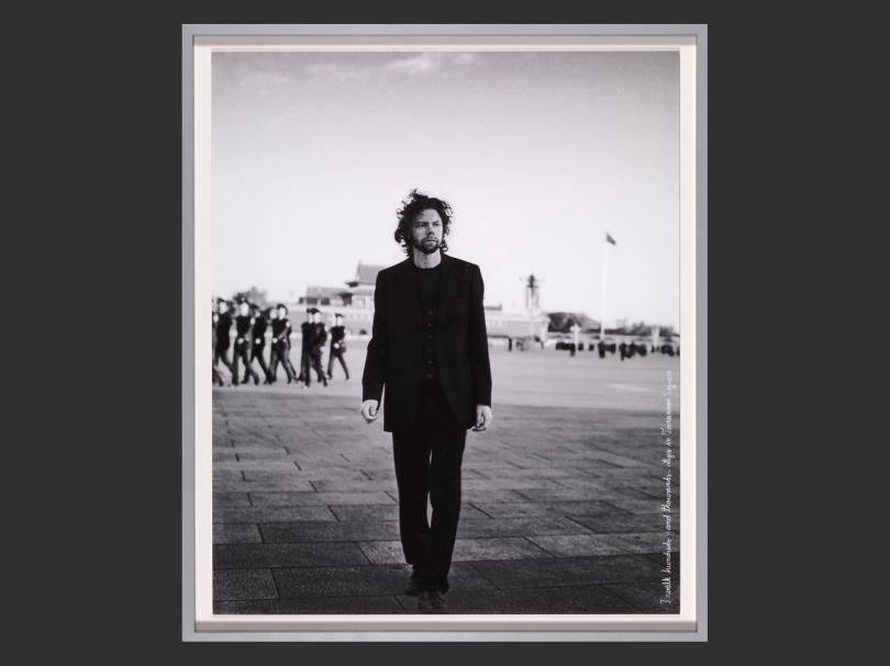 """Jari Silomäki, I Walk Hundreds – and Thousands – of Steps on Tiananmen Square (from the series '""""We are the Revolution"""", After Joseph Beuys'), 2013, pigment print, 77cm x 65cm, Museum of Contemporary Art Kiasma. Photo: Finnish National Gallery / Petri Virtanen"""