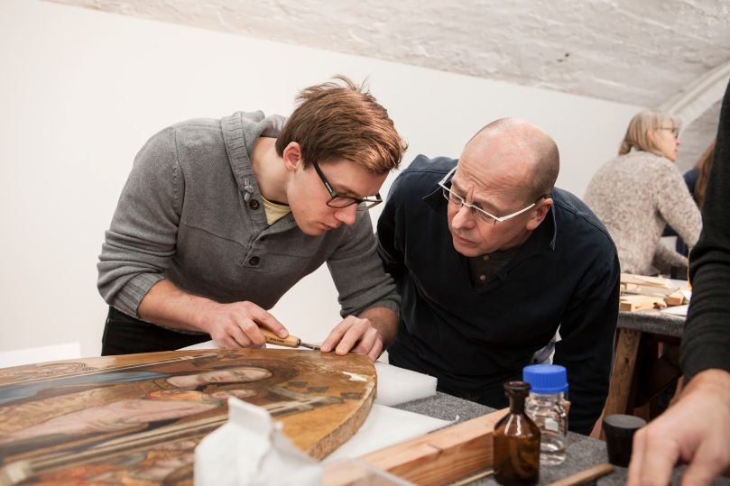 Wood Panel Workshop at Sinebrychoff Art Museum