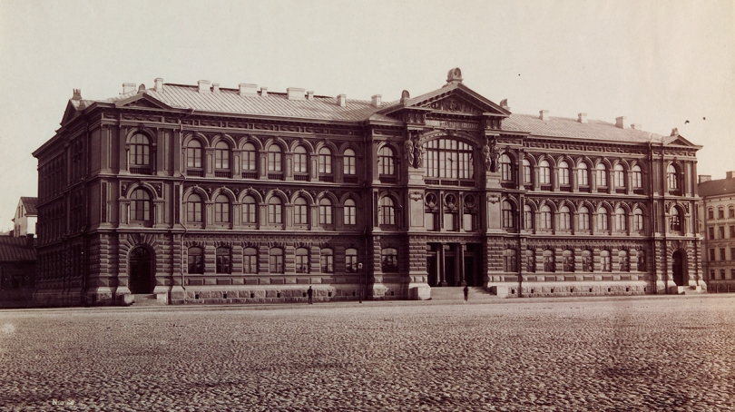 The Ateneum, which opened to the public in 1888, was the first official building in Finland dedicated to the arts. Photograph by Daniel Nyblin, 1890 / Finnish National Gallery.