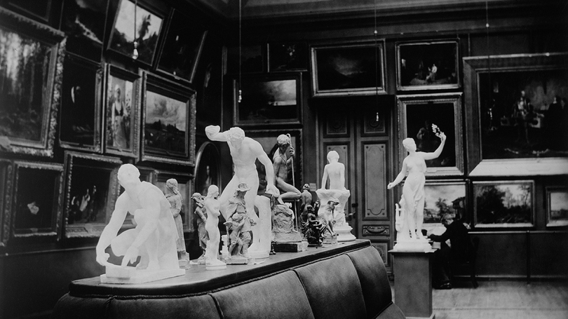 Finnish Art Society's collections in the Ateneum building, gallery of Finnish art, 1890s. Photo: Finnish National Gallery.