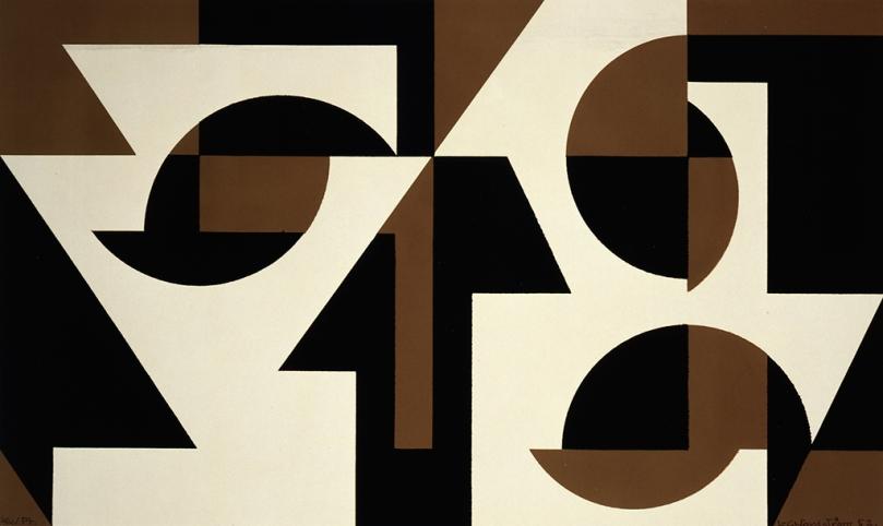 Lars-Gunnar Nordström, Composition, 1952, serigraphy, 26,7 cm x 44,8 cm, Ateneum Art Museum. Photo: Finnish National Gallery / Jouko Könönen.