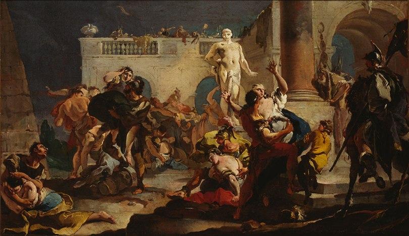 Giovanni Battista Tiepolo, The Rape of the Sabine Women, c. 1718–1719, oil on canvas, 43.5 x 74cm Finnish National Gallery / Sinebrychoff Art Museum Photo: Finnish National Gallery / Jouko Könönen