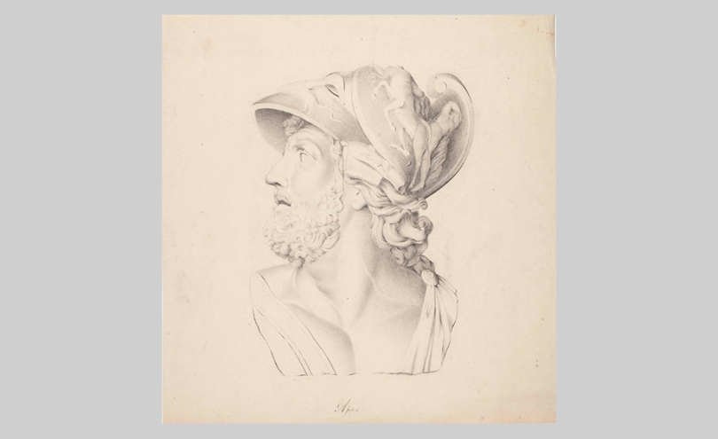 Berndt Abraham Godenhjelm, Aiax, a Study of a Plaster Cast, undated, charcoal on paper, 44cm x 41.5cm Finnish National Gallery / Ateneum Art Museum Photo: Finnish National Gallery / Ainur Nasretdin