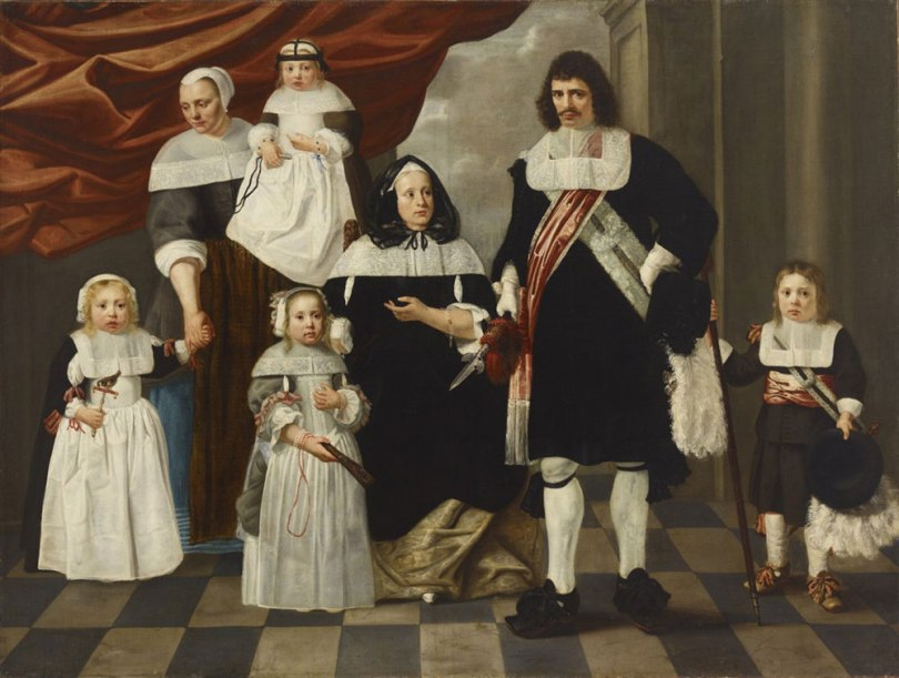 Unknown Dutch Artist, Portrait of a Family, mid-17th century onwards, oil on canvas, 157cm x 208cm Gösta and Bertha Stenman Donation Collection, Finnish National Gallery / Sinebrychoff Art Museum Photo: Finnish National Gallery / Hannu Pakarinen & Henri Tuomi
