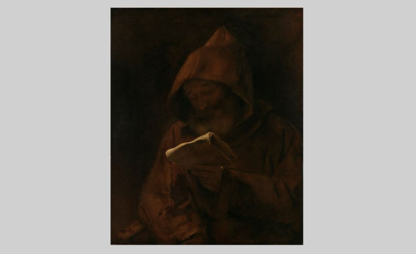 Rembrandt Harmensz. van Rijn, The Reading Monk, 1661, oil on canvas, 82cm x 66cm The Hjalmar Linder Donation, Finnish National Gallery / Sinebrychoff Art Museum Photo: Finnish National Gallery / Yehia Eweis