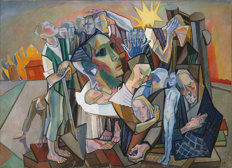 Gösta Diehl, Bombed Village, 1950, oil on canvas, 190cm x 260cm Finnish National Gallery / Ateneum Art Museum Photo: Finnish National Gallery / Janne Tuominen
