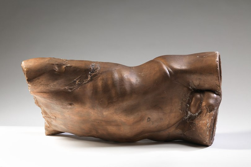 Helena Pylkkänen, Masculine / Recumbent Torso, 1986–87, bronze, 68cm x 42cm x 36cm Finnish National Gallery / Ateneum Art Museum Photo: Finnish National Gallery / Hannu Aaltonen