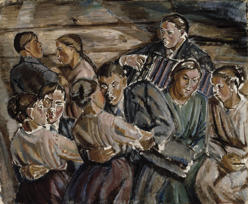 Tyko Sallinen, Barn Dance, 1918, oil on canvas, 114.5cm x 138cm. Finnish National Gallery / Ateneum Art Museum Photo: Finnish National Gallery / Antti Kuivalainen