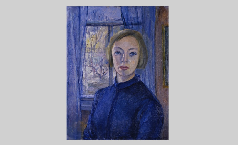 Eva Cederström, Self-portrait, 1937, oil on canvas, 65.5cm x 51cm. Lappeenranta Art Museum Photo: Lappeenranta Art Museum / Tuomas Nokelainen
