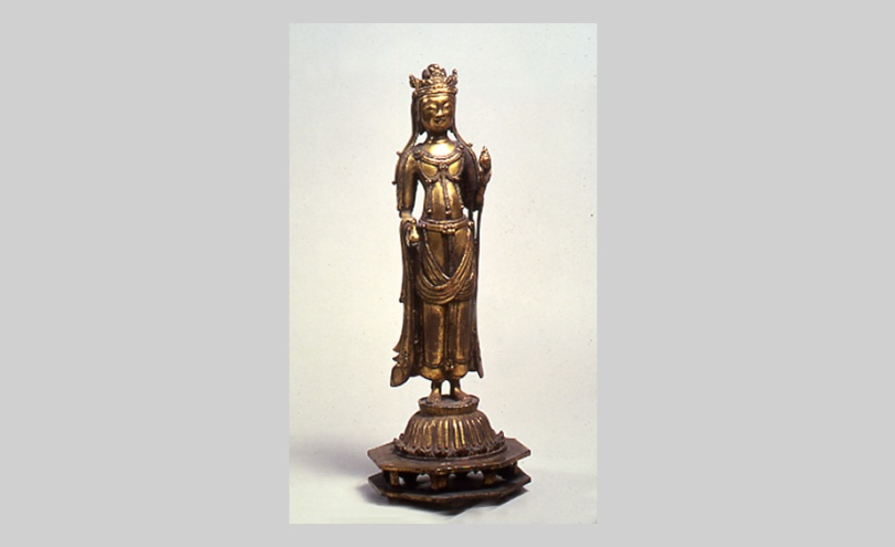 Bodhisattva, Qi Dynasty, 6th century, donated by Osvald Sirén to the National Museum of Oriental Art in Rome. Museo di Arte Orientale di Roma Photo: Museo di Arte Orientale di Roma