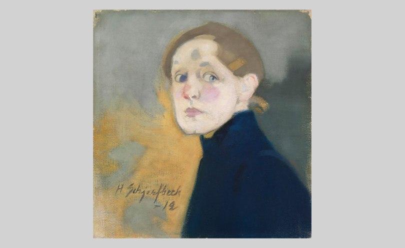 Helene Schjerfbeck,  Self-Portrait, 1912, oil on canvas, 43.5cm x 42cm Finnish National Gallery / Ateneum Art Museum Photo: Finnish National Gallery / Yehia Eweis