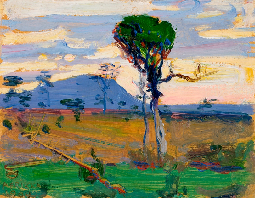 Akseli Gallen-Kallela, Mt. Donia Sabuk, 1909, oil on wood, 14cm x 18 cm Finnish National Gallery / Ateneum Art Museum Photo: Finnish National Gallery / Petri Virtanen