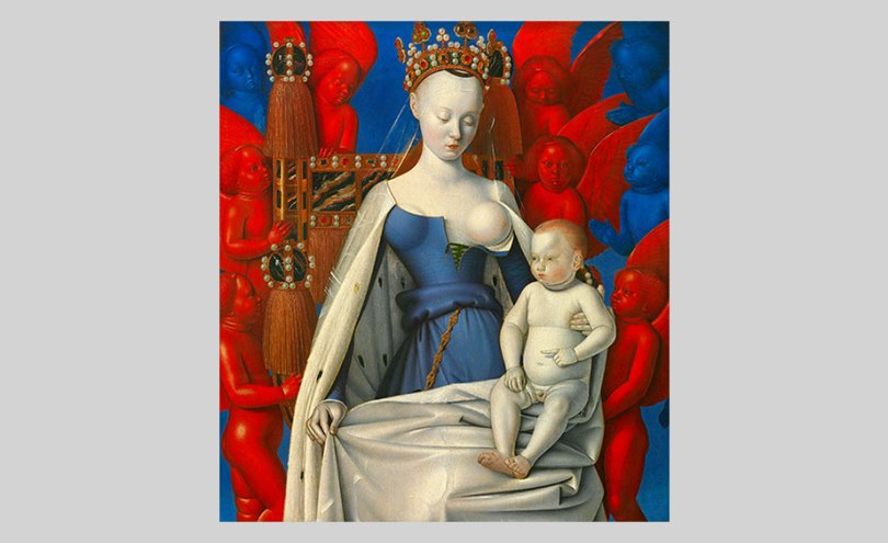 Jean Fouquet, Virgin and Child Surrounded by Angels, 1452–58