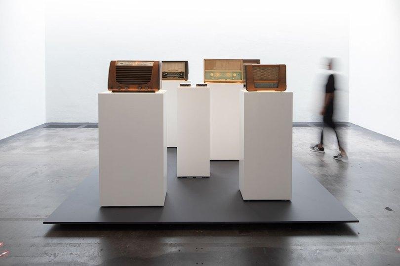 Installation view of Mika Vainio's sound installation 2 x 540 kHz, 2009, at '50 Hz', Museum of Contemporary Art Kiasma, Helsinki, 2020 Photo: Finnish National Gallery / Pirje Mykkänen